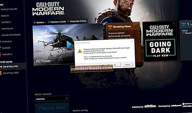 Korjaa COD Modern Warfare -virhekoodi 262146