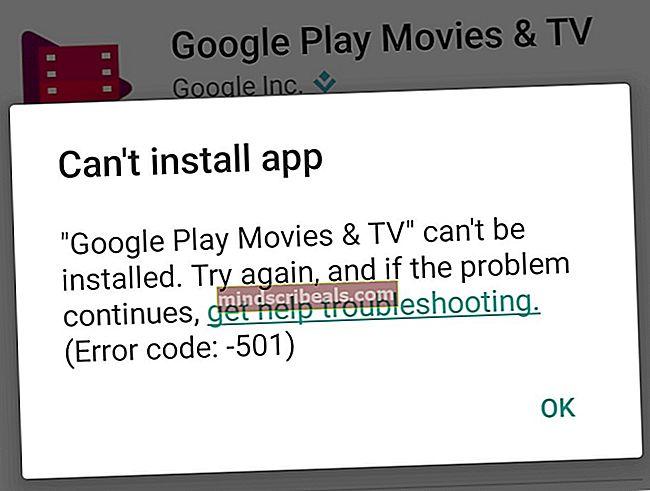 LØST: Fejl 501 i Google Play Butik
