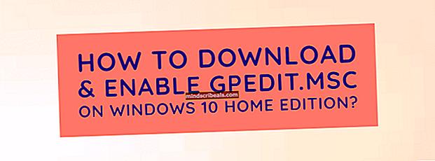 Sådan installeres gpedit.msc på Windows 10 (Home Edition)