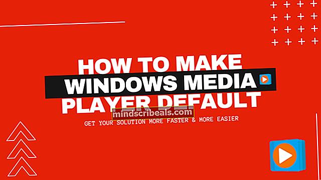 Sådan oprettes Windows Media Player som standard