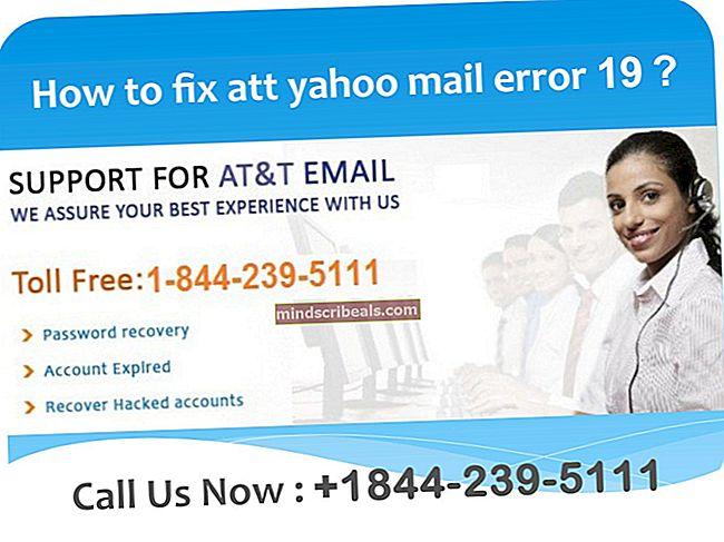 Sådan rettes Yahoo eller AT&T fejl 652314