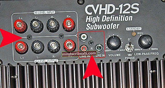 Sådan tilsluttes en subwoofer til en integreret stereoforstærker
